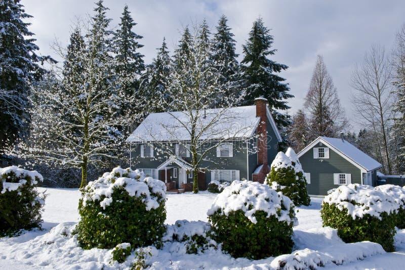 Hogar del país del invierno imagen de archivo