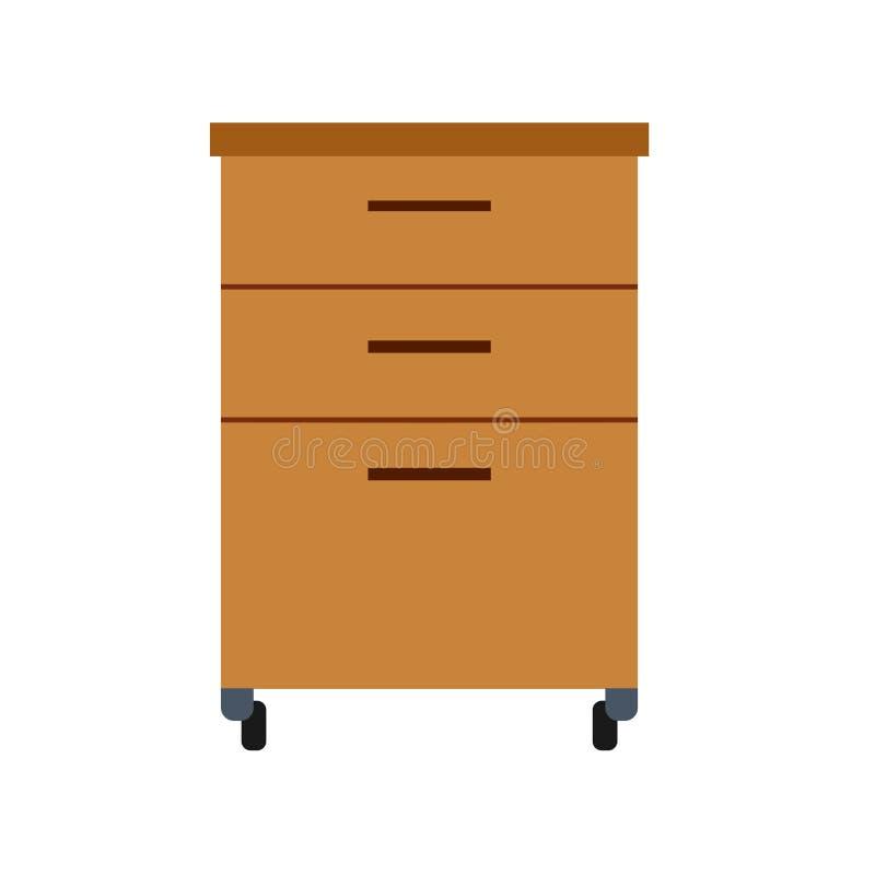 Hogar interior del diseño del ejemplo de la sala de estar del icono del vector de los muebles Elemento del apartamento aislado Eq libre illustration