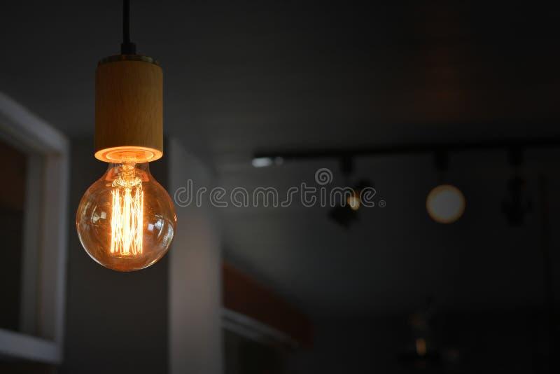 Hogar moderno de la decoración del bulbo de lámpara del tungsteno fotografía de archivo