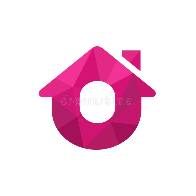 Hogar o casa Logo Icon, aislado en el fondo blanco Ejemplo polivin?lico bajo del vector del estilo libre illustration
