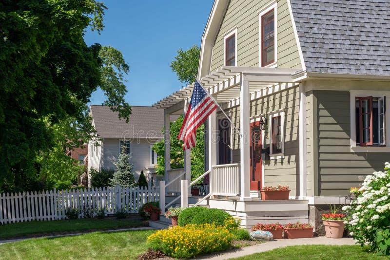 Hogar patriótico en Wisconsin imágenes de archivo libres de regalías
