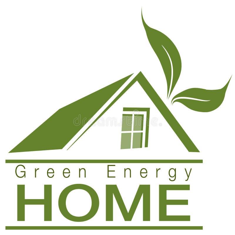 Hogar verde de la energía stock de ilustración