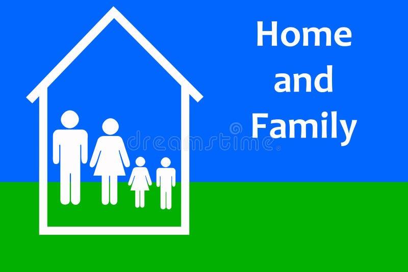 Hogar y familia ilustración del vector