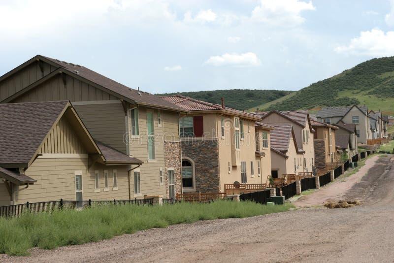 Hogares de Colorado imagen de archivo libre de regalías