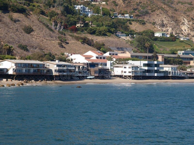 Hogares de la playa de Malibu imagen de archivo