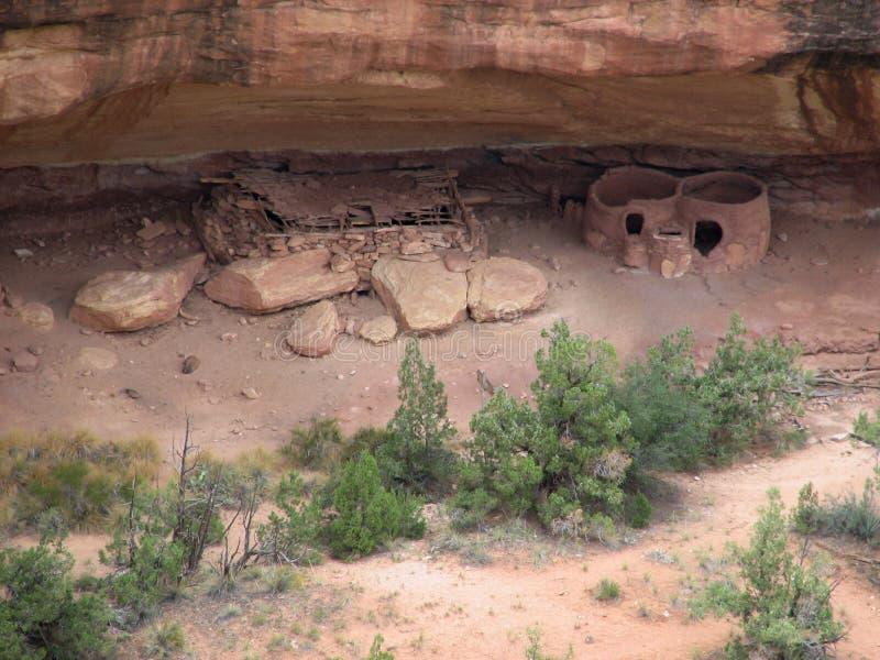 Hogares del nativo americano imagenes de archivo