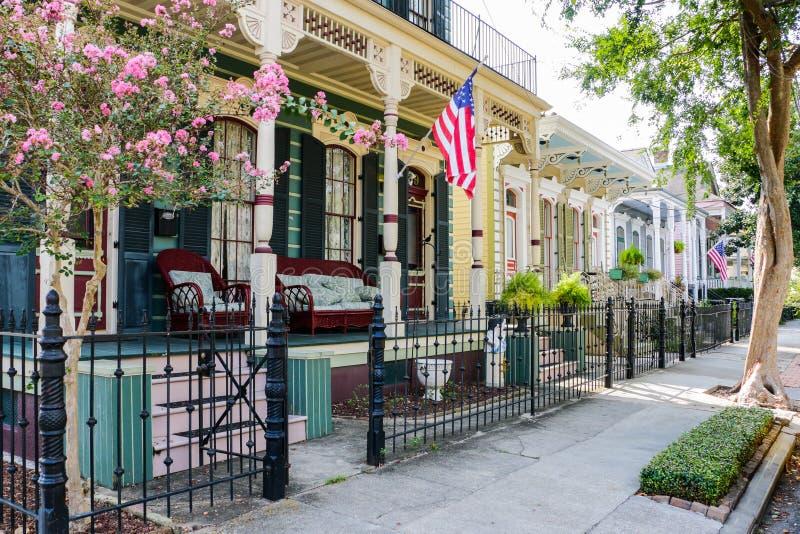 Hogares históricos de New Orleans foto de archivo libre de regalías