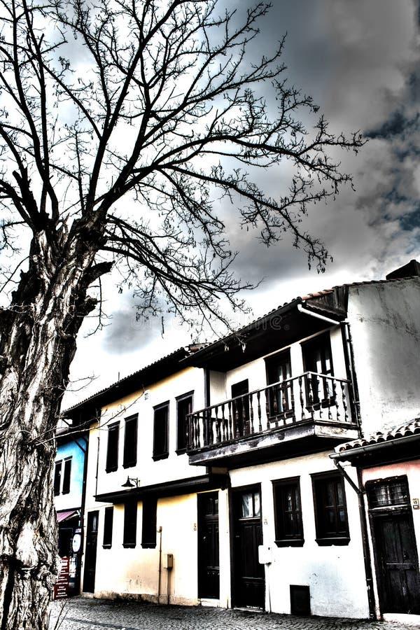 Hogares históricos en Odunpazari imagenes de archivo