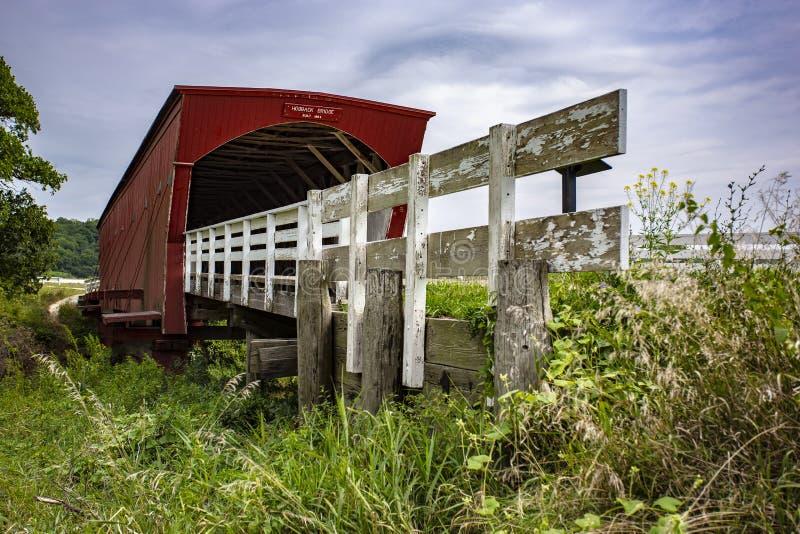 Hogback behandelde voetgangersbrug in Iowa stock foto's