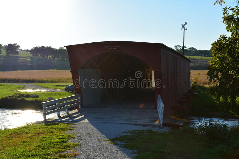 Hogback Covered Bridge 6 stock images