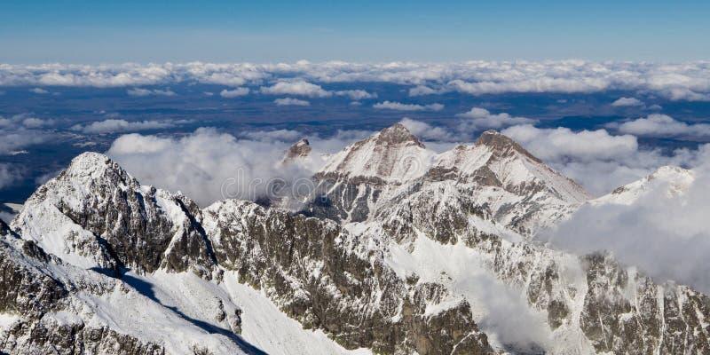 Hoge bergen Tatras stock foto's