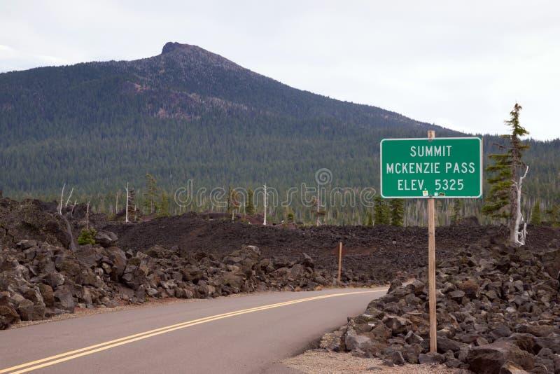 Hoge de Cascadewaaier van Oregon van de McKenziepas stock afbeelding