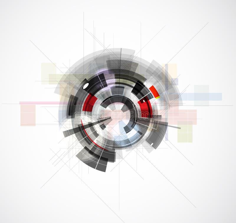 Hoge de computertechnologiezaken van wetenschaps futuristische Internet stock foto's