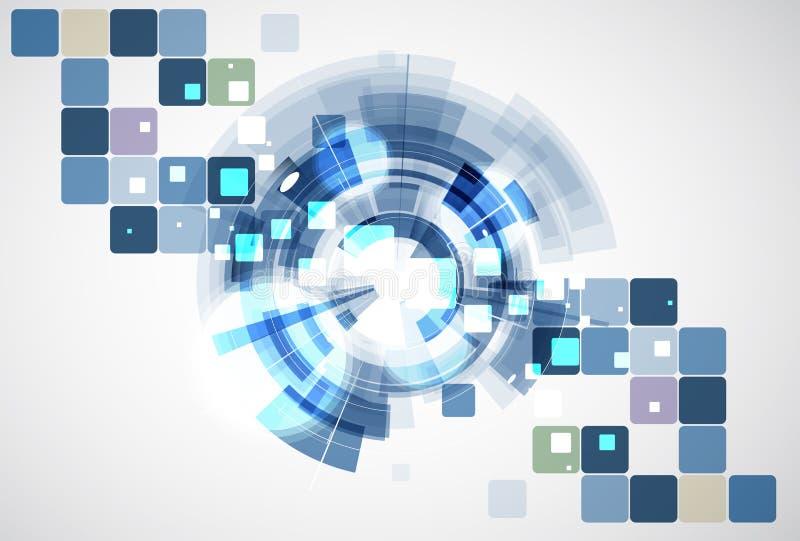 Hoge de computertechnologiezaken van wetenschaps futuristische Internet royalty-vrije illustratie