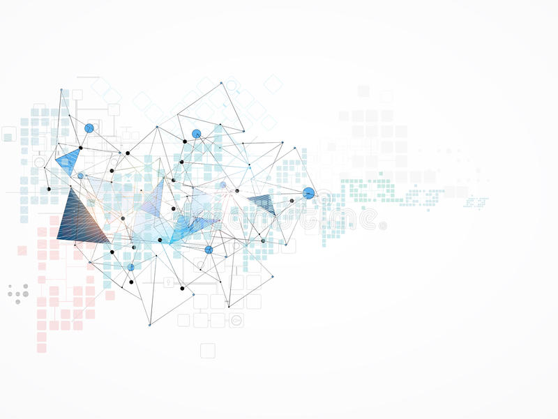 Hoge de computertechnologiezaken van wetenschaps futuristische Internet royalty-vrije stock afbeelding