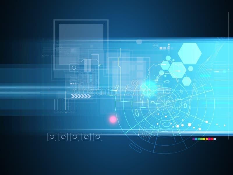 Hoge de computertechnologiezaken van wetenschaps futuristische Internet royalty-vrije stock afbeeldingen