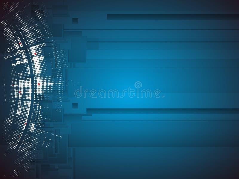 Hoge de computertechnologiezaken van wetenschaps futuristische Internet royalty-vrije stock foto