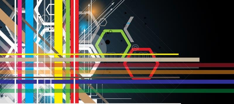Hoge de computertechnologiezaken van wetenschaps futuristische Internet vector illustratie