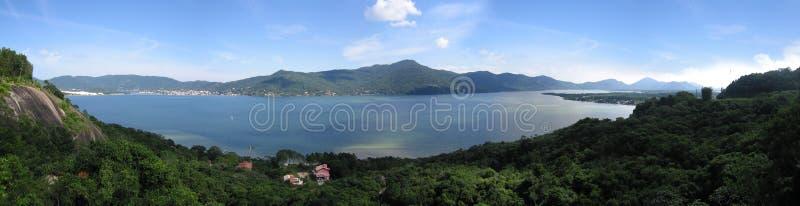 Hoge de hoekmening van Morroda Lagoa royalty-vrije stock foto