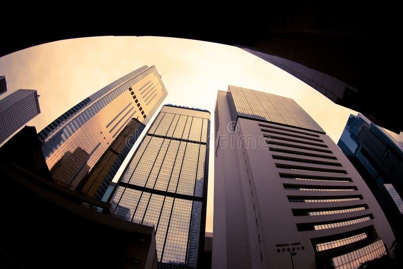 Hoge de stijgingsgebouwen van Hongkong stock afbeelding