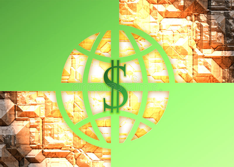 Hoge dollar stock illustratie