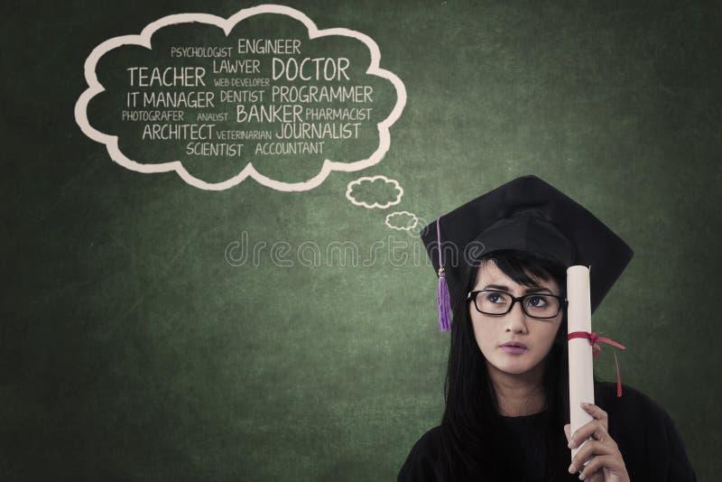 Hoge dromen in onderwijs stock foto's