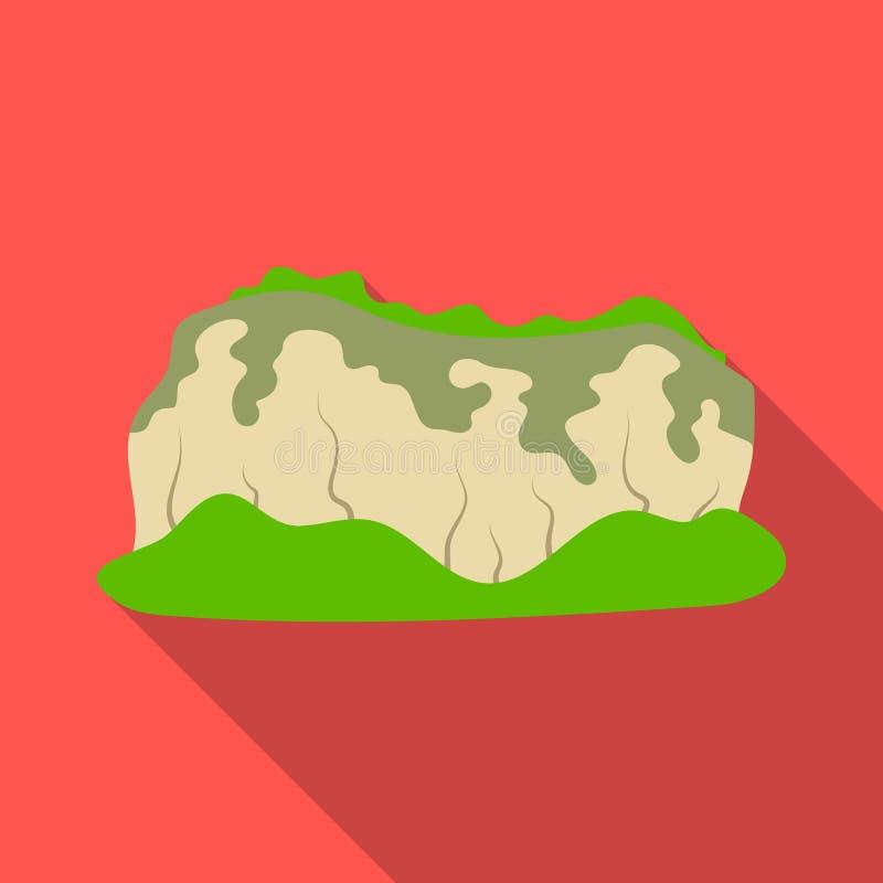 Hoge groene bergen Bergen die met bossen worden behandeld De verschillende bergen kiezen pictogram in de vlakke voorraad van het  royalty-vrije illustratie