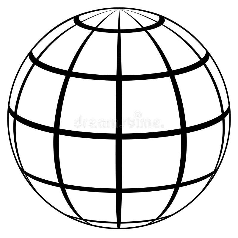 Hoge het pictogram van de bolplaneet - kwaliteit vector illustratie