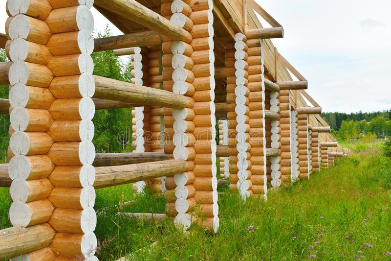 Hoge houten dia voor het drijven stock afbeelding