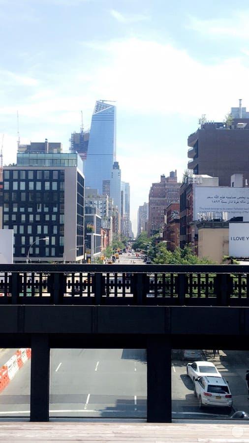 Hoge Lijn, de Stad van New York stock fotografie