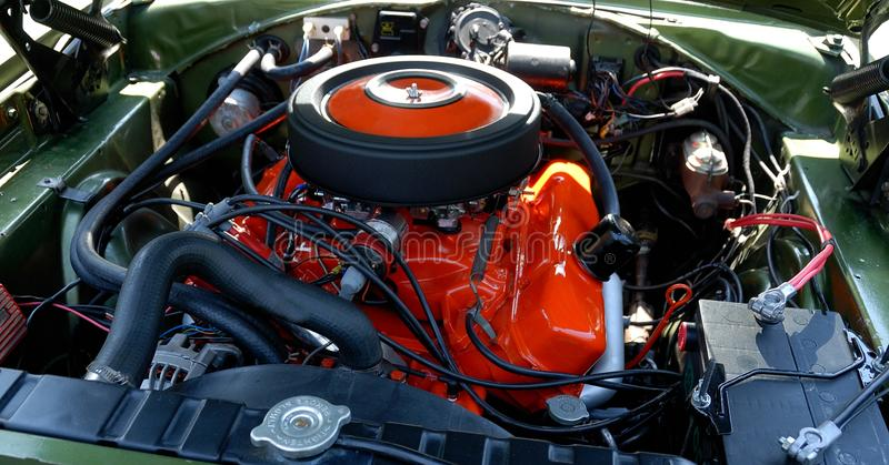 Hoge prestatiesmotor van een auto royalty-vrije stock afbeelding