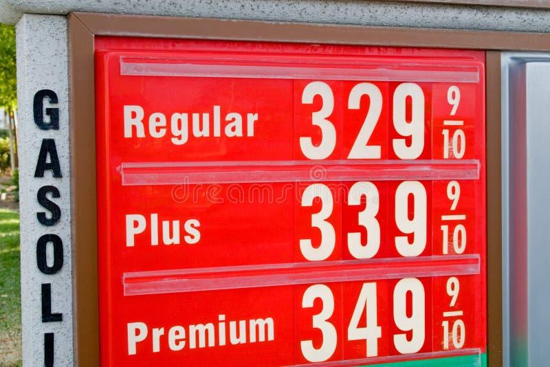 Hoge Prijs van Benzine stock afbeelding