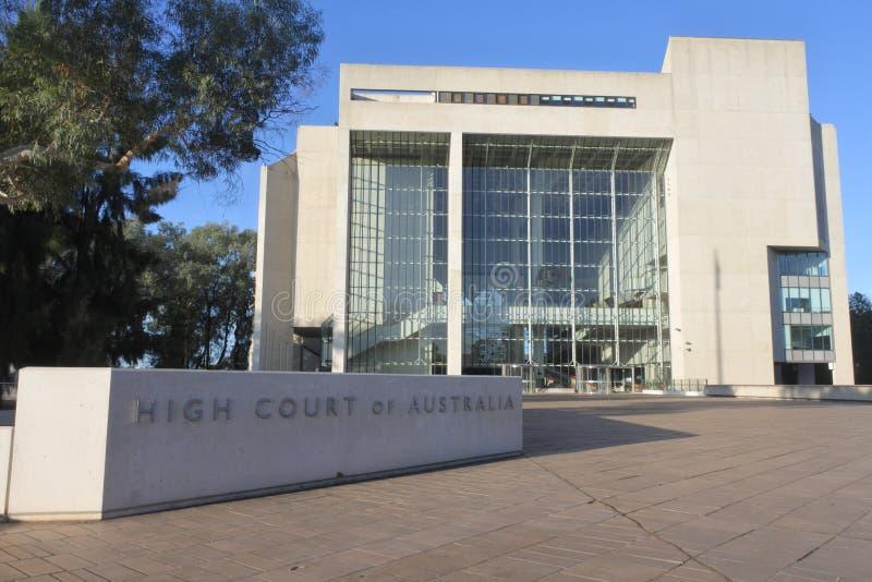 Hoge rechtsinstantie van Australië Australië op het Hoofdgrondgebied van Canberra Australië stock afbeeldingen