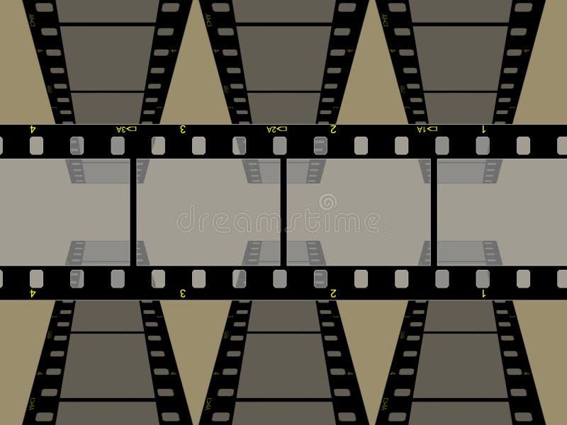 Hoge resolutie 3 frame film 35mm vector illustratie