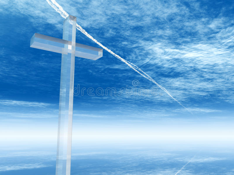 Hoge resolutie Christelijk kruis vector illustratie