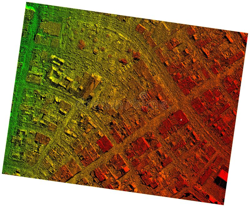 Hoge Resolutie Orthorectified, de LuchtdieKaart van Orthorectification voor Photogrammetry wordt gebruikt royalty-vrije stock foto