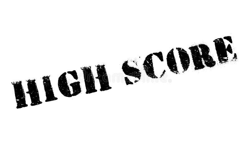 Hoge Score rubberzegel stock fotografie