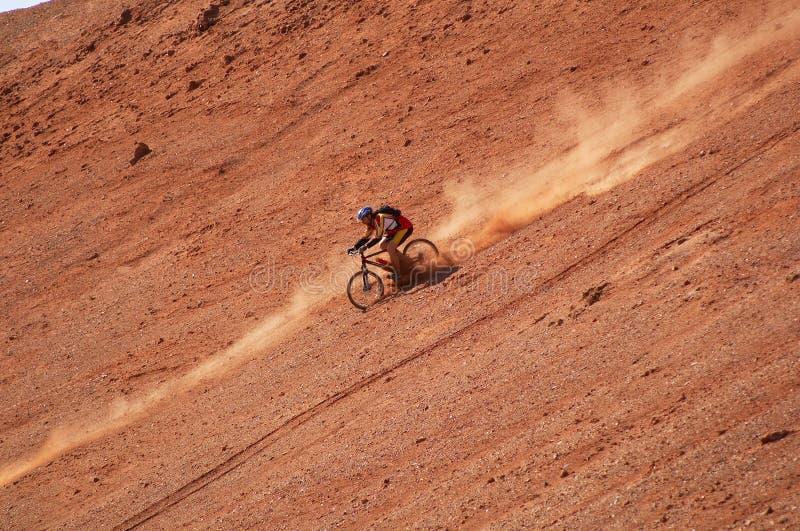 Hoge snelheid 2 van de fietser stock fotografie