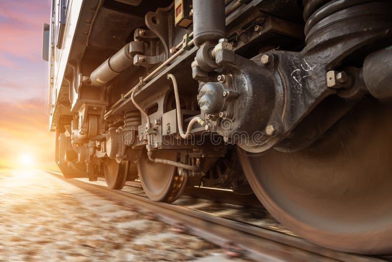 Hoge snelheids diesel trein stock afbeelding