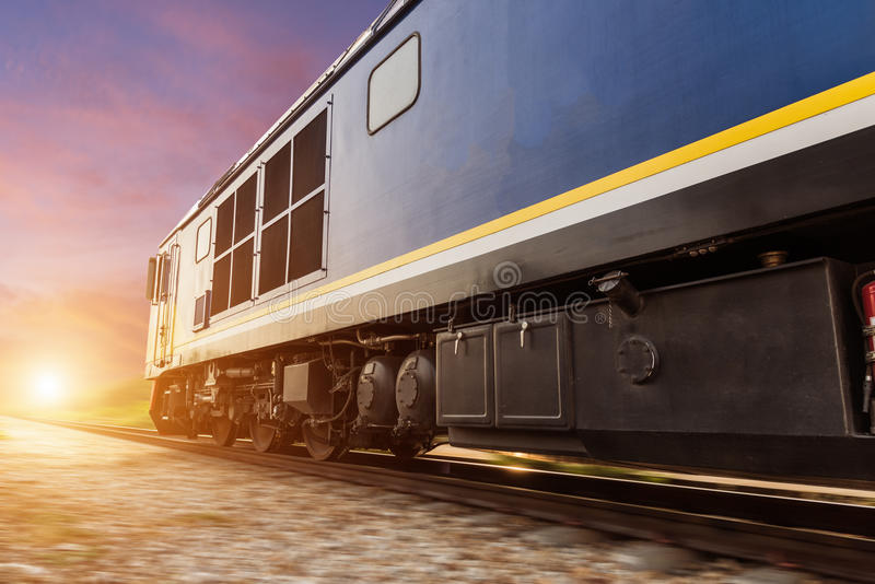 Hoge snelheids diesel trein royalty-vrije stock afbeelding