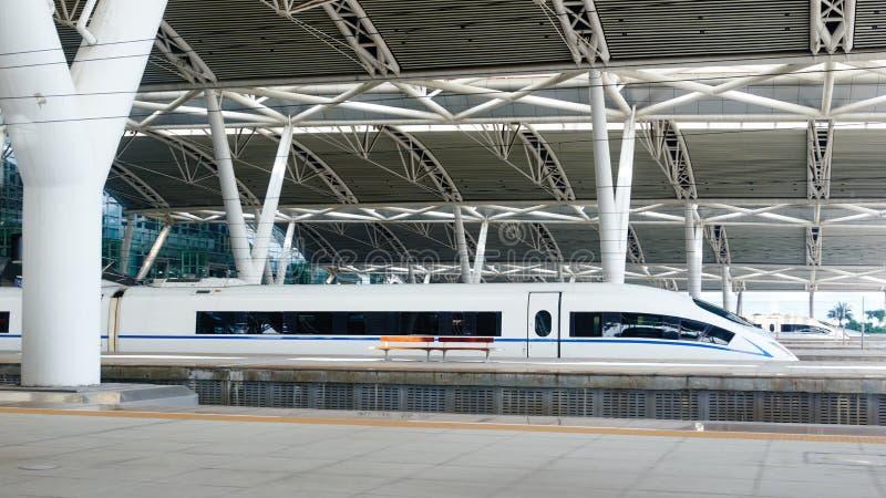 Hoge snelheidsstation in China stock foto