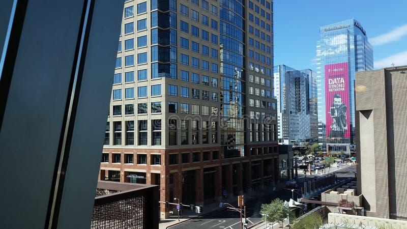 Hoge stijgingsgebouwen in Phoenix van de binnenstad stock foto