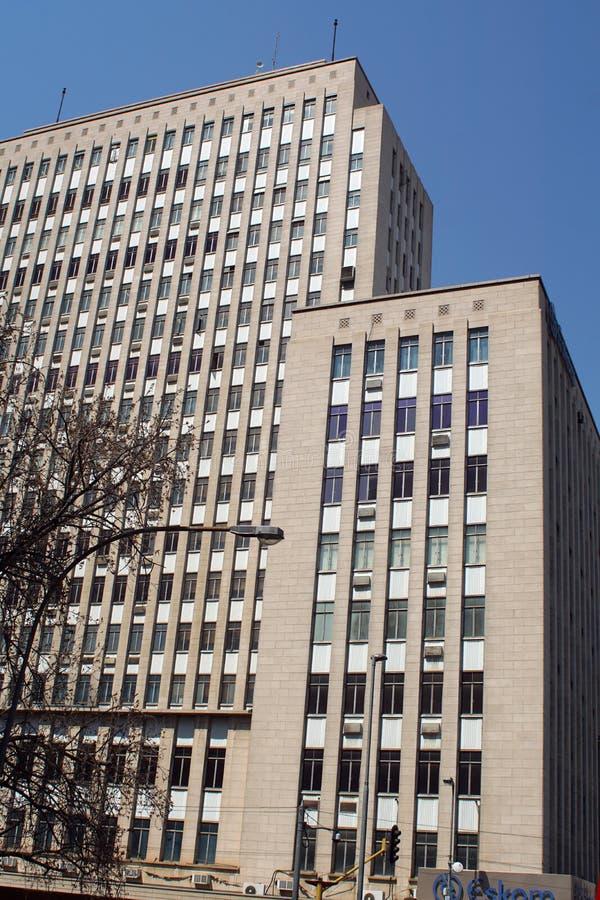 Hoge stijgingsgebouwen in van de binnenstad, Johannesburg, Zuid-Afrika royalty-vrije stock foto