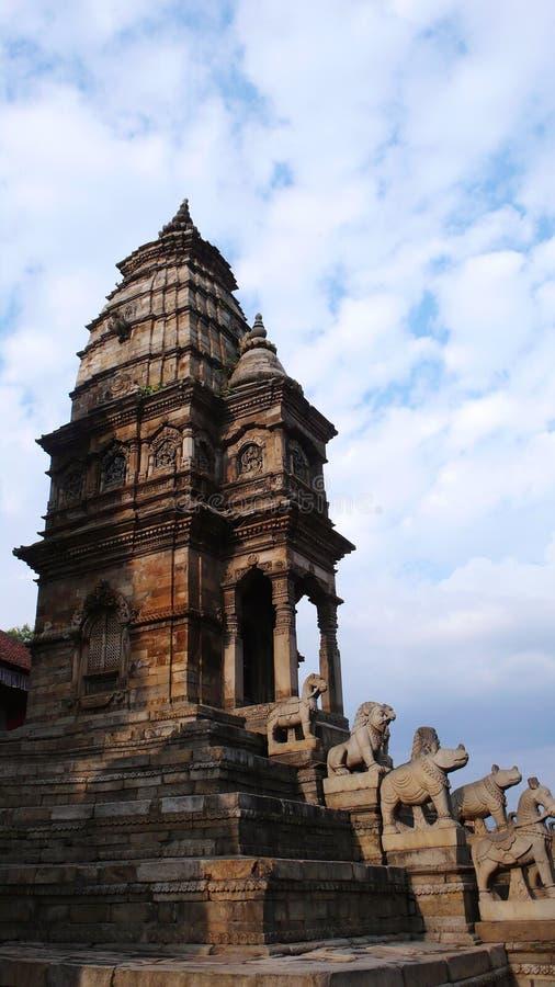 Hoge tempel in Katmandu stock fotografie
