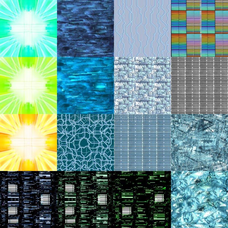 Hoge texturen - technologie 1 royalty-vrije stock foto