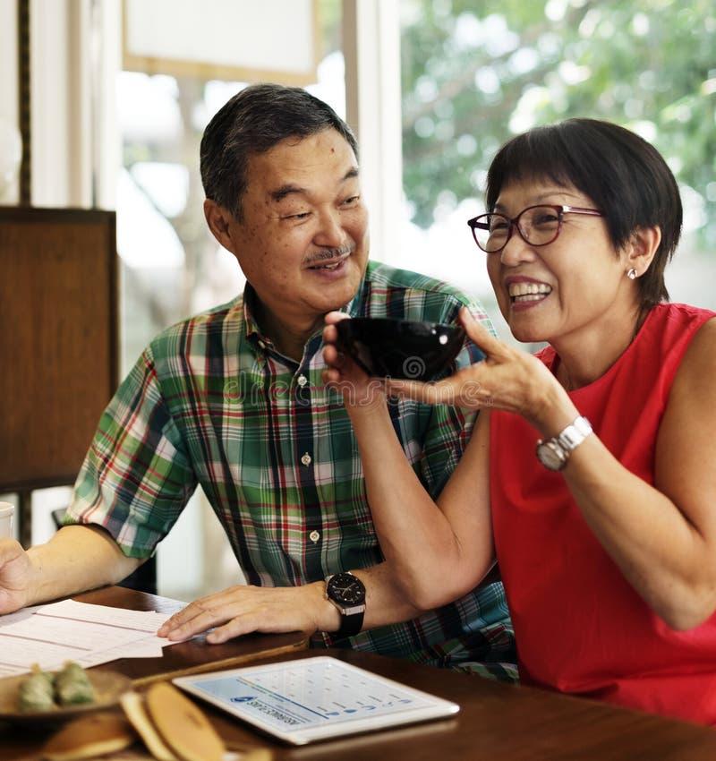 Hoger Aziatisch paar stock foto
