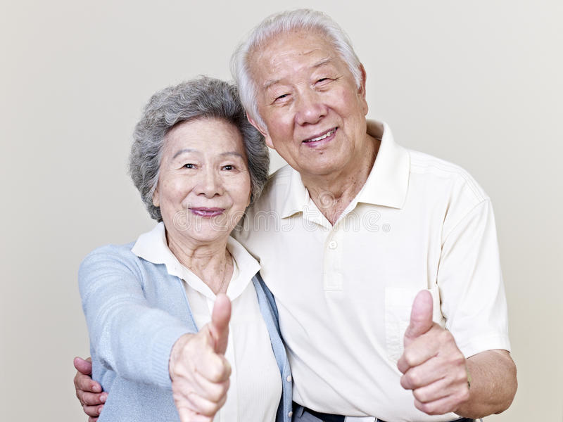 Hoger Aziatisch paar royalty-vrije stock foto