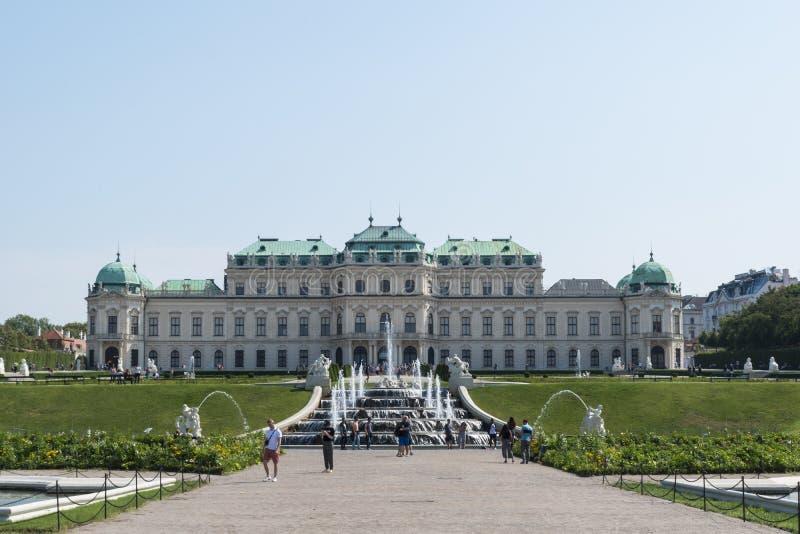 Hoger Belvedere Paleis royalty-vrije stock fotografie
