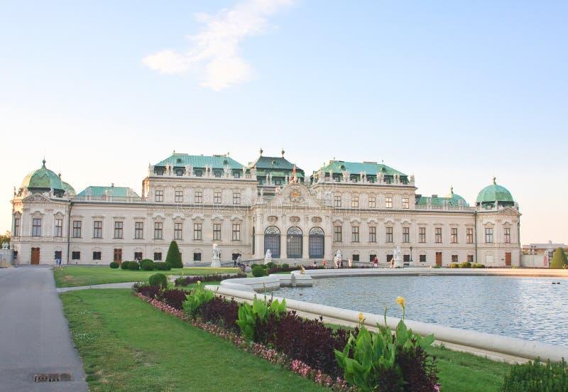 Hoger Belvedere Paleis wenen oostenrijk royalty-vrije stock foto