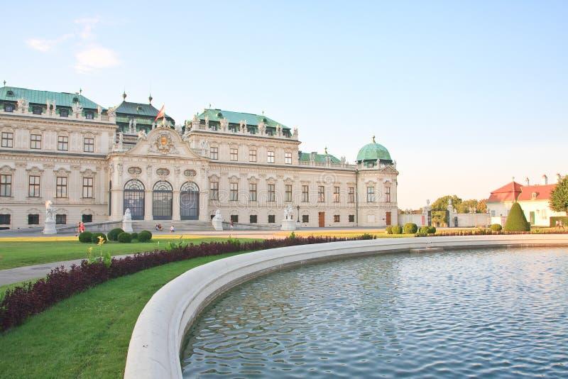 Hoger Belvedere Paleis wenen oostenrijk royalty-vrije stock afbeelding